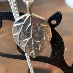 Bundle & Save Silver Plated Long Leaf Necklace
